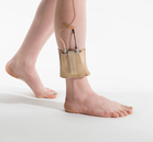 Beige ankle belt